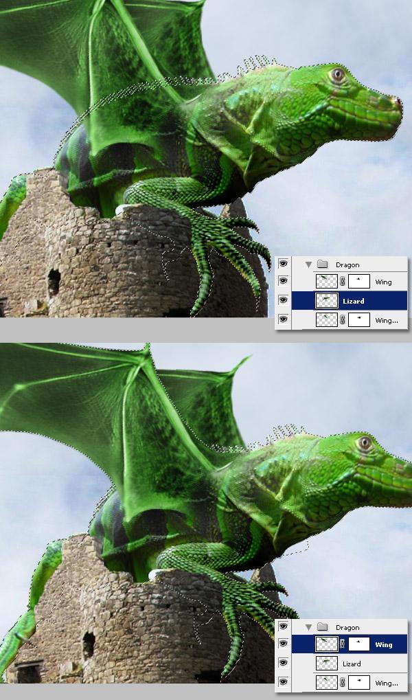 Photoshop图像合成实例:栩栩如生的翼龙_亿码酷站___亿码酷站平面设计教程插图14