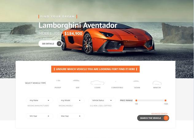 高档汽车经销商HTML5模板_企业官网模板