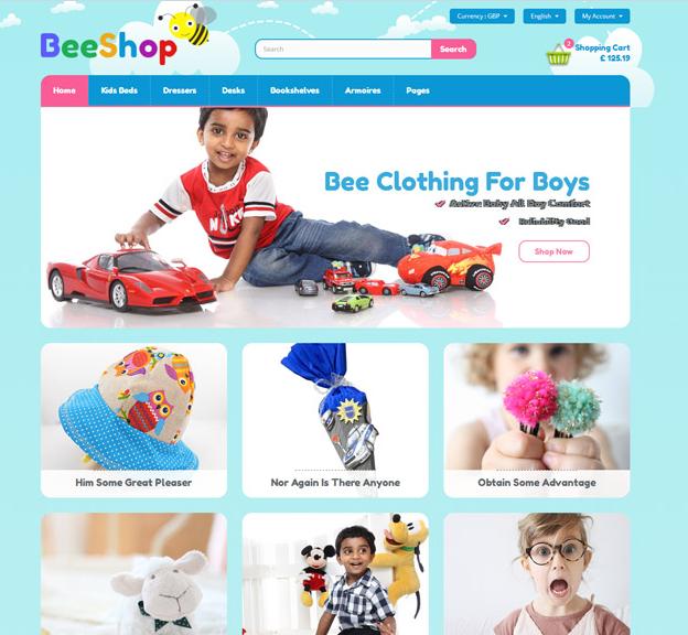 儿童用品玩具电商HTML模板_企业官网模板