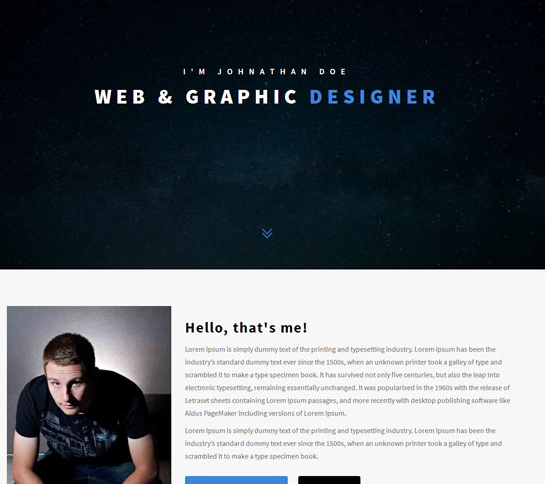 个性响应式个人网站HTML5模板_html网站模板