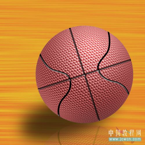 Photoshop滤镜制作逼真的篮球_亿码酷站___亿码酷站平面设计教程