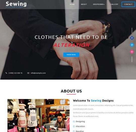 服装订制缝纫企业网站模板_wordpress主题