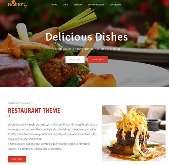 响应式西餐厅网站html5模板_帝国cms模板