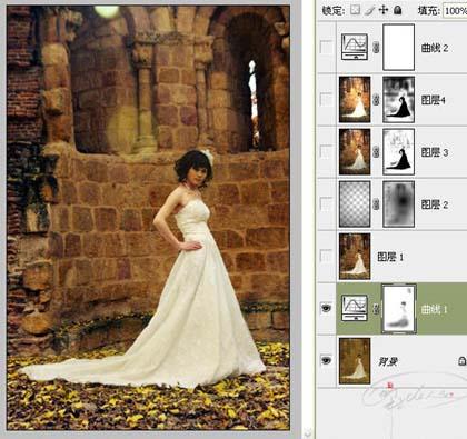 photoshop修复偏灰的婚片教程_亿码酷站___亿码酷站平面设计教程插图3
