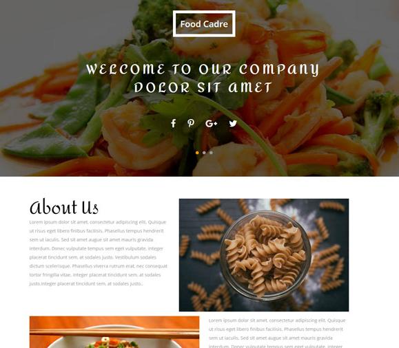 宽屏大气海鲜自助美食网站模板_html网站模板