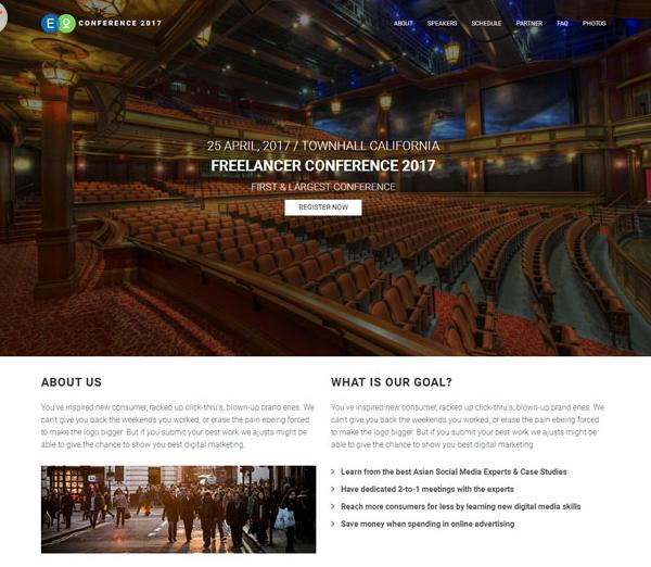 国际会议专题网站模板_亿码酷站