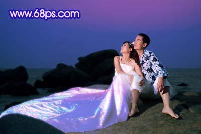 Photoshop打造梦幻色彩的夜景婚纱照_亿码酷站___亿码酷站平面设计教程插图7