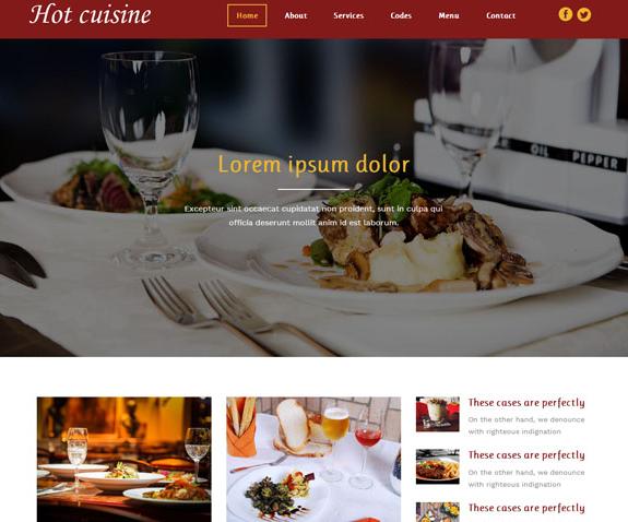 美食酒店网站前端模板免费下载_企业官网模板