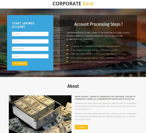 银行金融理财服务公司网站模板_亿码酷站网站源码下载