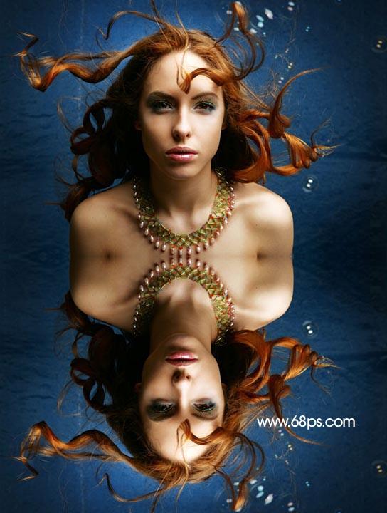 Photoshop制作逼真的水中倒影_亿码酷站___亿码酷站平面设计教程插图3