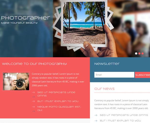 职业摄影师照片画廊网站模板_html网站模板
