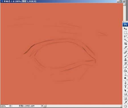 Photoshop精细鼠绘人物眼睛_亿码酷站___亿码酷站平面设计教程插图1