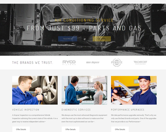 蓝色骑车大气制造业网站模板_亿码酷站网站源码下载