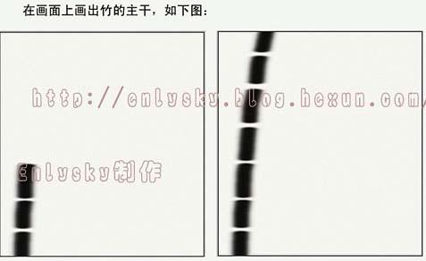 PHOTOSHOP鼠绘水墨竹子_亿码酷站___亿码酷站平面设计教程插图2