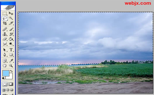 Photoshop风景照片的调色_亿码酷站___亿码酷站平面设计教程插图2