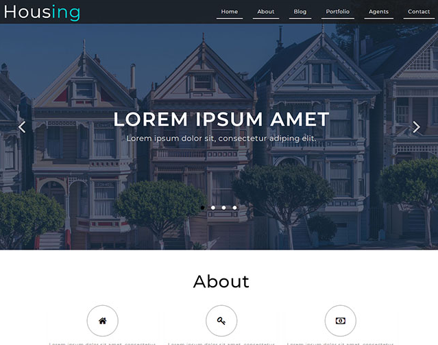宽屏房屋租贷公司网站模板_企业官网模板