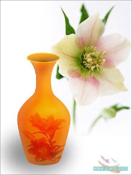 Photoshop打造一只精美艺术花瓶_亿码酷站___亿码酷站平面设计教程