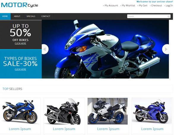 哈雷摩托网上销售网站模板_html网站模板