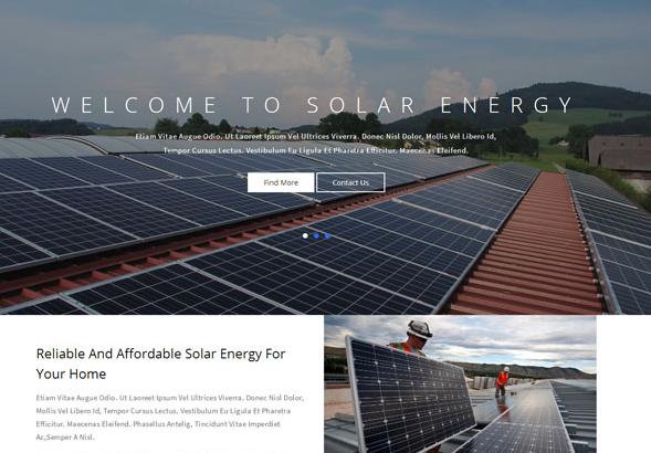 蓝色电阳能发电企业网站模板_亿码酷站网站源码下载
