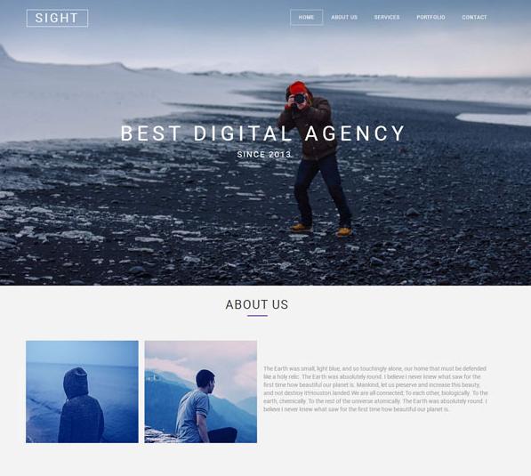 天蓝色商业摄影机构网站模板_帝国cms模板