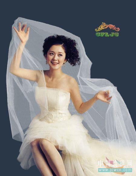 Photoshop复杂背景抠婚纱教程_亿码酷站___亿码酷站平面设计教程插图2