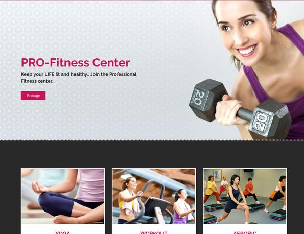 大气健身有氧运动网站模板_亿码酷站网站源码下载