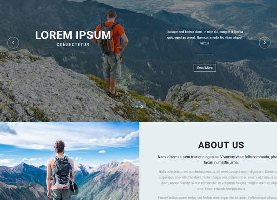 远足运动旅游网站模板_亿码酷站