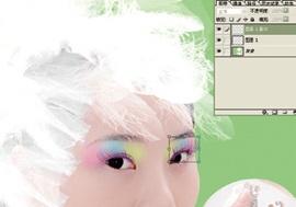 Photoshop给美女加上彩妆及头饰_亿码酷站___亿码酷站平面设计教程插图10