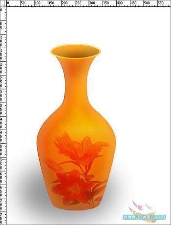Photoshop打造一只精美艺术花瓶_亿码酷站___亿码酷站平面设计教程插图11