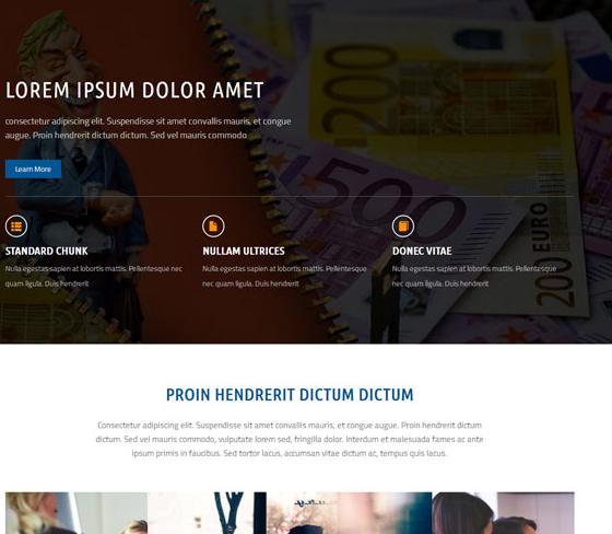 国际银行金融业务网站模板_帝国cms模板