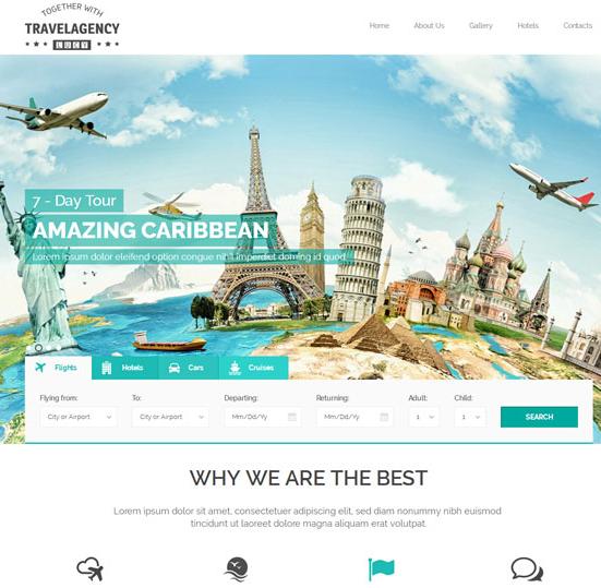 绿色全球旅游门户网站模板_wordpress主题