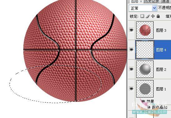 Photoshop滤镜制作逼真的篮球_亿码酷站___亿码酷站平面设计教程插图20