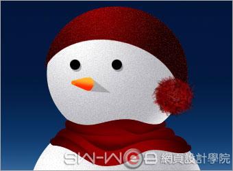 PHOTOSHOP鼠绘漂亮的圣诞雪人_亿码酷站___亿码酷站平面设计教程插图17