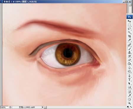 Photoshop精细鼠绘人物眼睛_亿码酷站___亿码酷站平面设计教程插图6