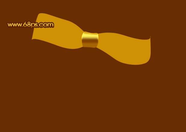 Photoshop制作漂亮的金色礼品结_亿码酷站___亿码酷站平面设计教程插图8