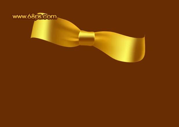 Photoshop制作漂亮的金色礼品结_亿码酷站___亿码酷站平面设计教程插图11