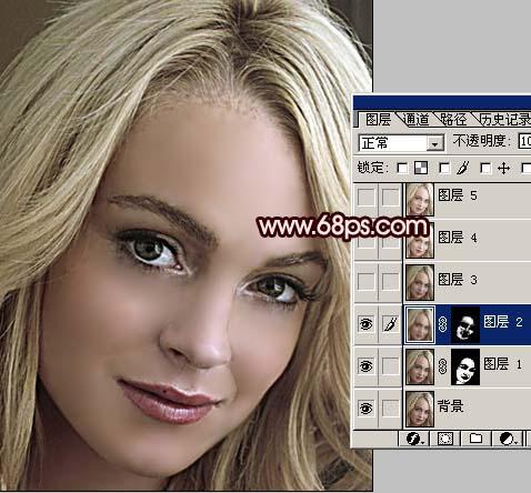 Photoshop为多斑的人像磨皮及美白_亿码酷站___亿码酷站平面设计教程插图3