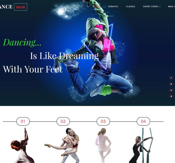 舞蹈表演演出培训HTML5模板_亿码酷站网站源码下载
