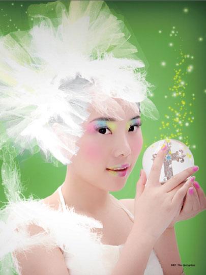 Photoshop给美女加上彩妆及头饰_亿码酷站___亿码酷站平面设计教程