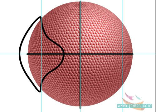Photoshop滤镜制作逼真的篮球_亿码酷站___亿码酷站平面设计教程插图16