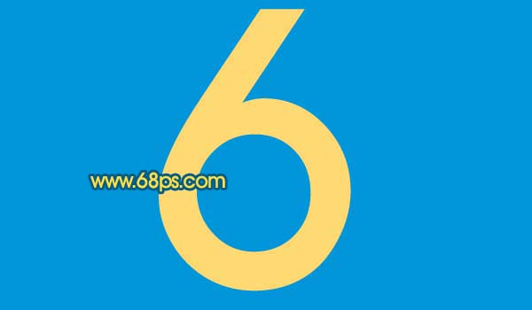 Photoshop打造黄金3D特效字_亿码酷站___亿码酷站平面设计教程插图1