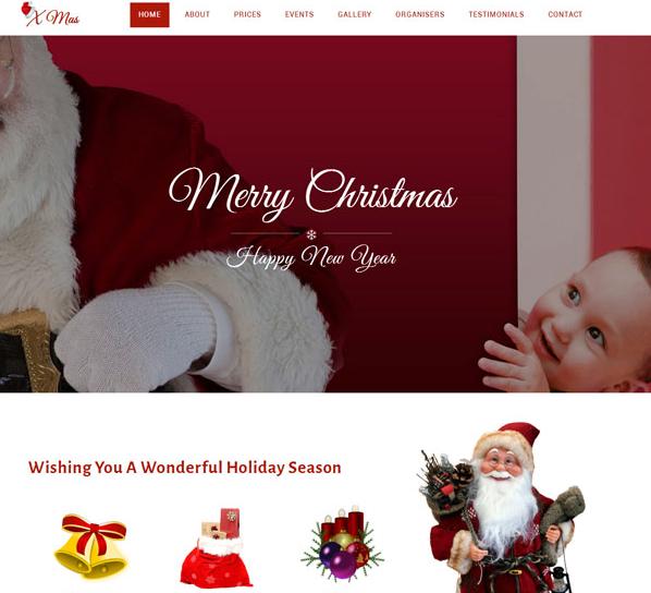 圣诞专题网站模板_帝国cms模板