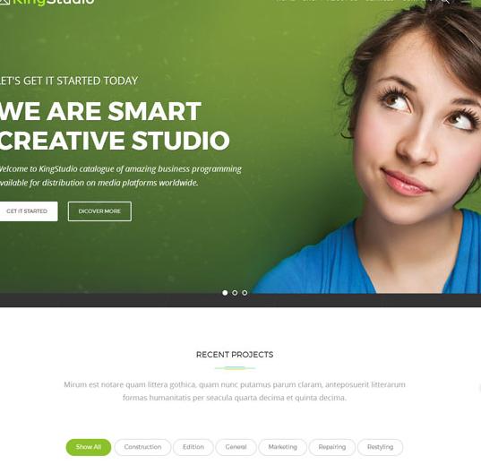 大气绿色的HTML5企业网站模板_企业官网模板
