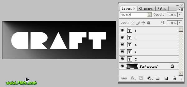 Photoshop制作剪纸字效果_亿码酷站___亿码酷站平面设计教程插图8