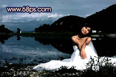 Photoshop快速打造暗调夜景婚片_亿码酷站___亿码酷站平面设计教程插图4