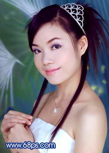 Photoshop调色教程:艳丽蓝色调的人物照片_亿码酷站___亿码酷站平面设计教程插图9