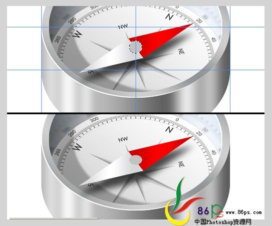 PS绘制金属质感袖珍指南针_亿码酷站___亿码酷站平面设计教程插图22