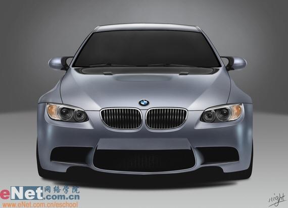 Photoshop鼠绘实例:宝马BMWM3_亿码酷站___亿码酷站平面设计教程