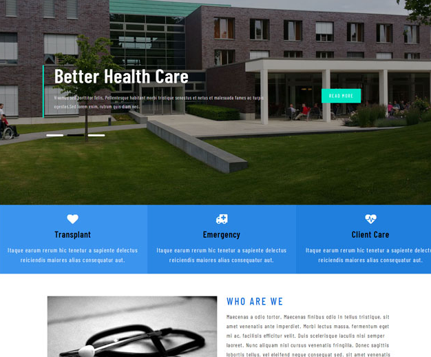 环境出色疗养院官方网站HTML5模板_亿码酷站