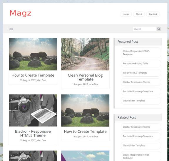 小清新简洁响应式HTML5博客模板_企业官网模板